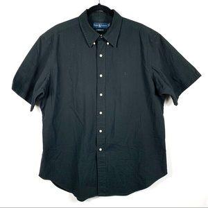 Ralph Lauren Black Seersucker Short Sleeve Shirt